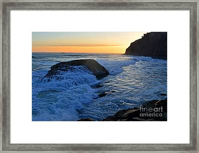 Moon Tides In Dana Point Framed Print