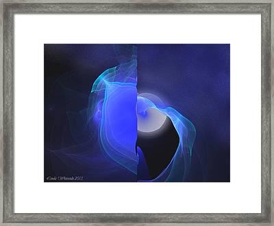 Framed Print featuring the digital art Moon Tides by Linda Whiteside