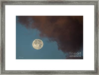 Moon Transition From Night To Day Framed Print by Rene Triay Photography