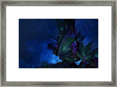 Moon Tree Hills Framed Print