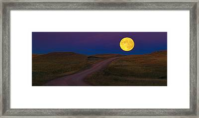 Framed Print featuring the photograph Moon Way by Kadek Susanto