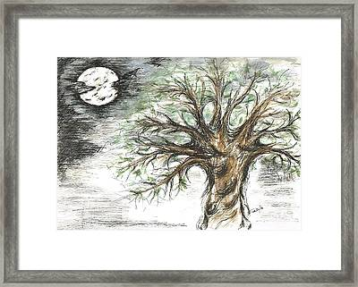Moon Whisper  Framed Print