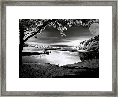 Framed Print featuring the photograph Moona Lagoona by Robert McCubbin