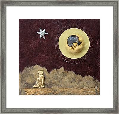 Moonbeam Cat Framed Print by Ellen Miffitt