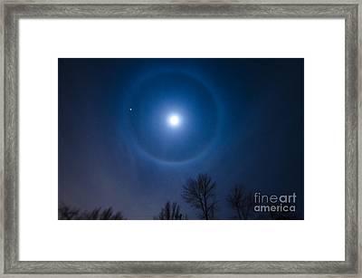 Moonbow Over Chicago 1 Framed Print by Deborah Smolinske