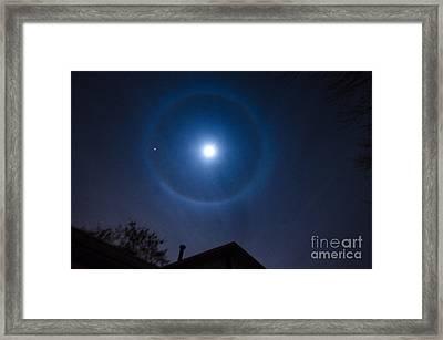 Moonbow Over Chicago 2 Framed Print by Deborah Smolinske