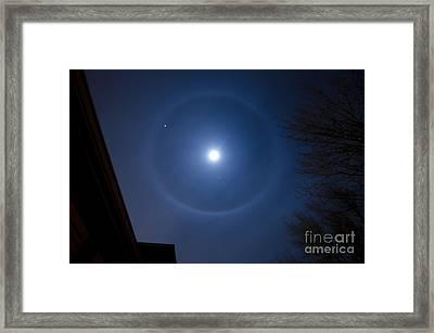 Moonbow Over Chicago 3 Framed Print by Deborah Smolinske
