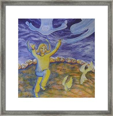 Moonchild - In Paradise Framed Print by Jacquelyn Roberts