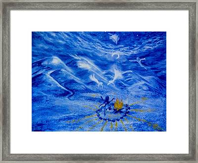Moonchild's Dance - Detail Framed Print by Jacquelyn Roberts