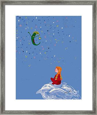 Framed Print featuring the painting Moondreams by Desline Vitto