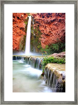 Mooney Falls Framed Print