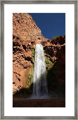 Mooney Falls Grand Canyon Framed Print by Michael J Bauer