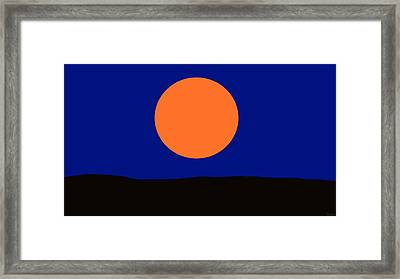 Moonglow Framed Print by David Wiles