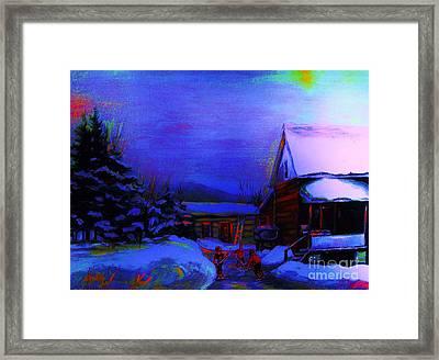 Moonglow On Powder Framed Print by Carole Spandau
