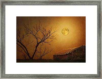 Moonglow Over Polenz Ranch Framed Print by Nikolyn McDonald