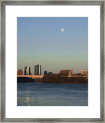 Mooning In The City Framed Print by Zachary Hitchcock
