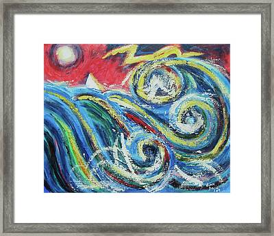 Moonlight And Chaos Framed Print by Diane Pape