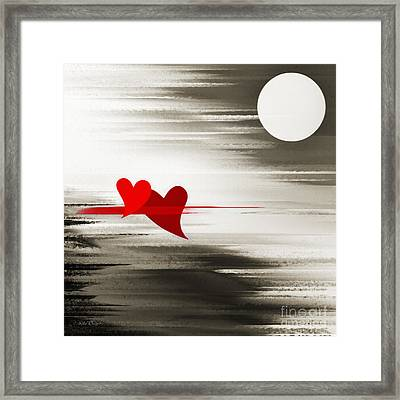 Moonlight And In Love Framed Print by Andee Design