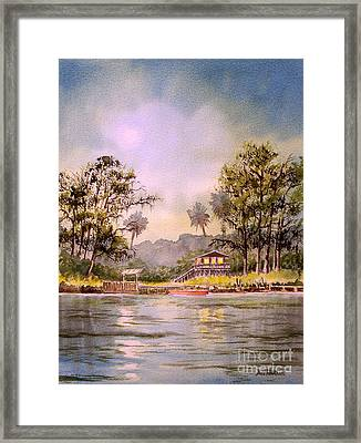 Moonlight Aucilla River Florida Framed Print by Bill Holkham