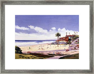 Moonlight Beach Encinitas Framed Print by Mary Helmreich