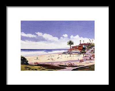California Beach Framed Prints