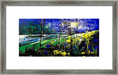 Moonlight Blue Framed Print by Laurend Doumba