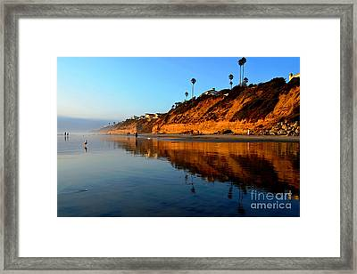 Moonlight Cliffs Framed Print