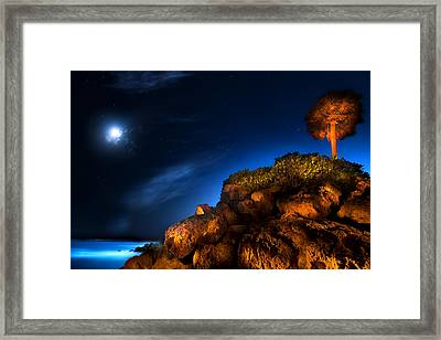 Moonlight Cove Framed Print by Mark Andrew Thomas