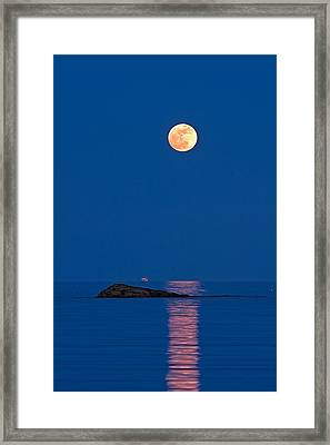 Moonlight Cruise Framed Print by Jeff Sinon