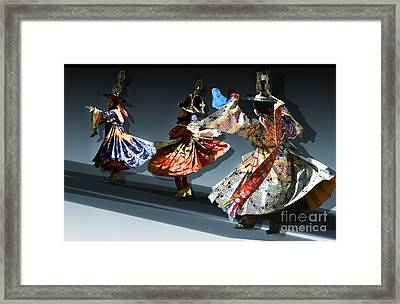 Framed Print featuring the digital art Moonlight Dance Graphics by Angelika Drake