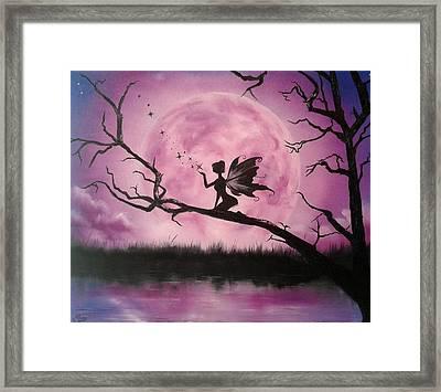 Moonlight Fairy Framed Print by Ira Florou