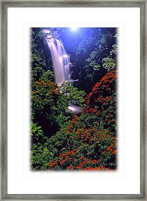 Moonlight Falls Framed Print by Marie Hicks