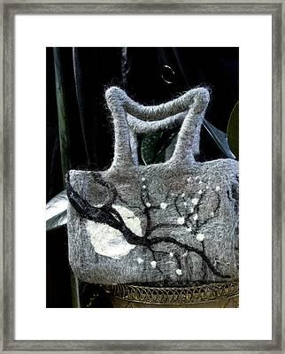 Moonlight Felted Bag Framed Print