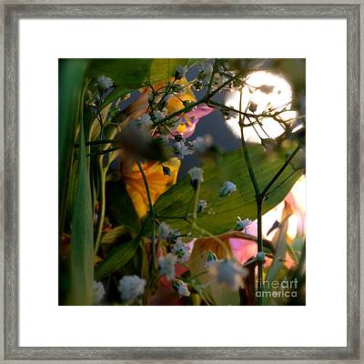 Moonlight Flowers Framed Print