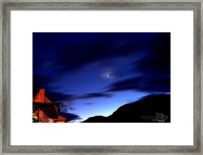 Framed Print featuring the photograph Moonlight by Guy Hoffman