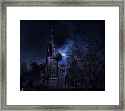 Moonlight Framed Print by Hazel Billingsley