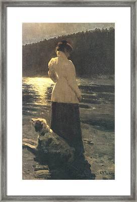 Moonlight Framed Print by Ilya Repin