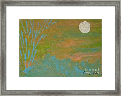 Moonlight In The Wild Framed Print