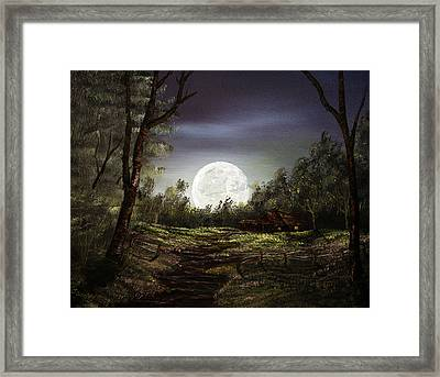 Moonlight  Framed Print by Jamil Alkhoury