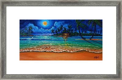 Moonlight Lagoon Framed Print
