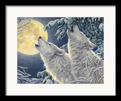 Wolf Moon Framed Prints