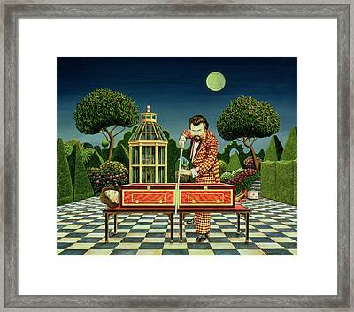 Moonlight Magician, 1979  Framed Print by Anthony Southcombe