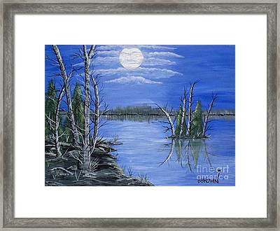 Moonlight Mist Framed Print
