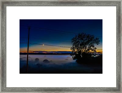 Moonlight Mist Framed Print by Randy Scherkenbach
