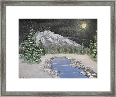 Moonlight Mountain Framed Print by Tim Townsend