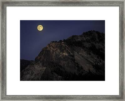 Moonlight On The Crater Rim Framed Print