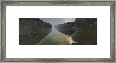 Moonlight On The Great Pee Dee Framed Print by Blue Sky