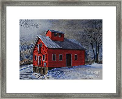 Moonlight On The Mill Framed Print