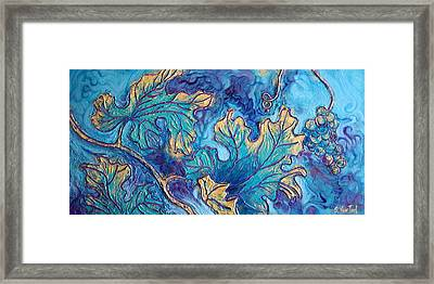 Moonlight On The Vine Framed Print