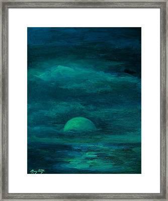 Moonlight On The Water Framed Print